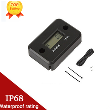 Motorcycle computer Hour Meter With battery Timer With Inductive protable Motorcycle digital meter jet ski Timer Accumulator(China)