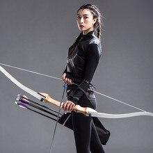 Tir à l'arc Recurve, cible de tir à l'arc, en bois laminé, fibre de verre, de 10 à 36 lb, 62 et 48 pouces, pour la chasse