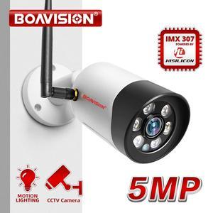 Image 1 - HD 1080P 5 Мп Wifi IP камера наружная беспроводная Onvif полноцветная камера видеонаблюдения с ночным видением цилиндрическая камера безопасности со слотом для TF карты APP CamHi
