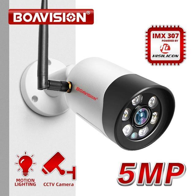 HD 1080P 5 Мп Wifi IP камера наружная беспроводная Onvif полноцветная камера видеонаблюдения с ночным видением цилиндрическая камера безопасности со слотом для TF карты APP CamHi