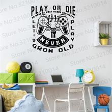 Gamer wall decal Controller video game decals Customized For Kids Bedroom Vinyl Wall Art Decals PW230