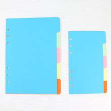 5pcs 6-hole A5 A6 Index Separator Sheet Classification Loose-leaf Paper Agenda Diary Divider Stationery Office Supplies cheap CN(Origin) Notebook Planner Agenda Notebook 2019 Office planner accessories
