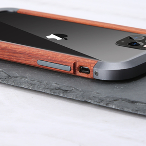 Image 5 - R JUST Luxury Aluminum Metal Wood Bumper Case for iPhone SE 2020 11 Pro Max X 7 8 XR XS MAX Slim Natural Wood Brand Phone Cover