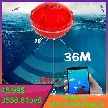 Sonar Portable Fish Finder Bluetooth Wireless Depth Sea Lake Detect Echo Sounder Sener IOS Android - discount item  30% OFF Fishing