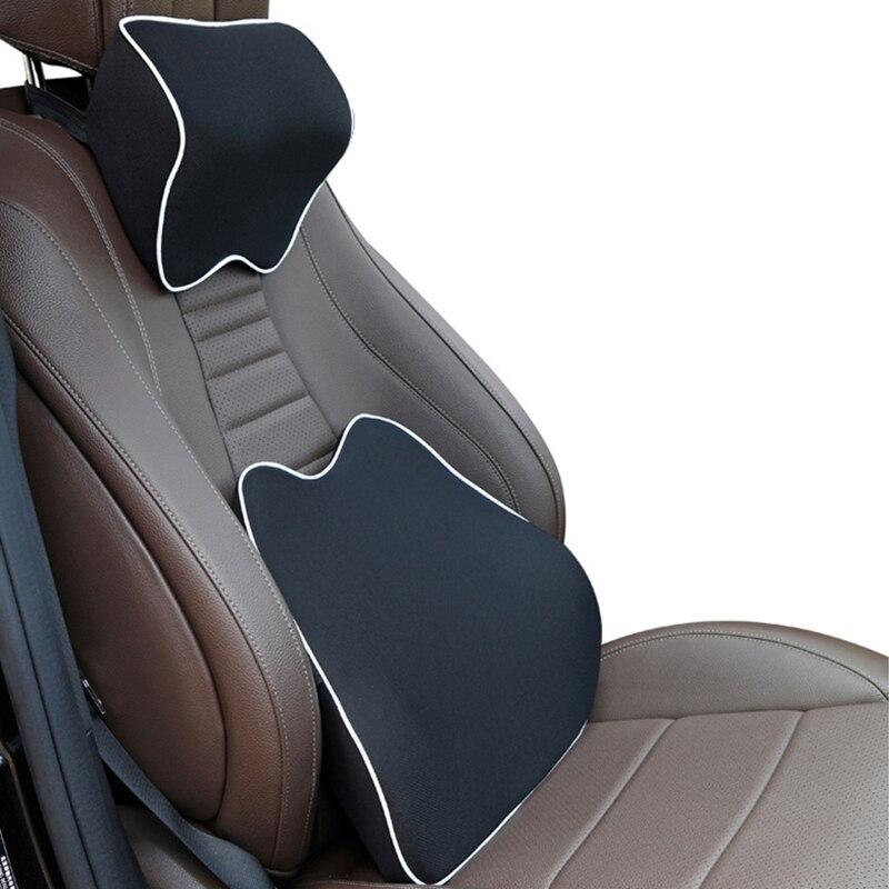 Car Neck Headrest Pillow Universal Memory Cotton Breathable Auto Car Neck Rest Headrest Cushion Pillow Car Interior Accessories
