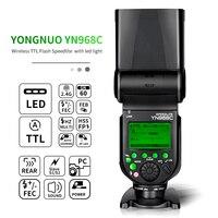 Yongnuo yn968n/c flash speedlite para canon nikon dslr compatível com yn622n/c yn560 sem fio ttl hss speedlite com luz led|Flashes| |  -