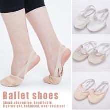 Мягкие наполовину вязаные носки для художественной гимнастики; эластичная обувь для танцев; обувь для защиты ног; Бальные принадлежности для девочек; SEC88