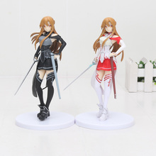 цены 18cm Anime Sword Art Online SAO Asuna Yuuki Kirito Collection Action Figure Anime Toys PVC Figure Model dolls Toy Collection