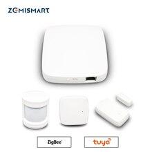 Tuya ZigBee Smart Gateway Hub Smart Home Bridge Smart Life APP Alexa Google Home Enable with Zigbee 3.0 Security Sensor Switch