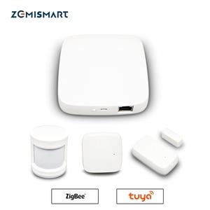 Image 1 - Tuya Zigbee Smart Gateway Hub Smart Home Brug Smart Leven App Alexa Google Home Staat Met Zigbee 3.0 Security Sensor schakelaar