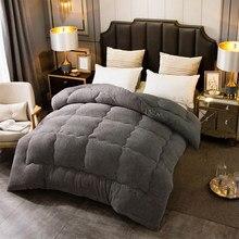 Outono inverno engrossar quente lã de cordeiro colcha cobertor único duplo rei rainha cama capa consolador casa hotel edredões