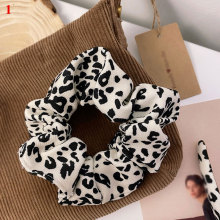 Women Corduroy Scrunchies Leopard Zebra Pattern Hair Ties Gum Elastic Hair Bands Retro Female Ladies Headwear Hair Accessories