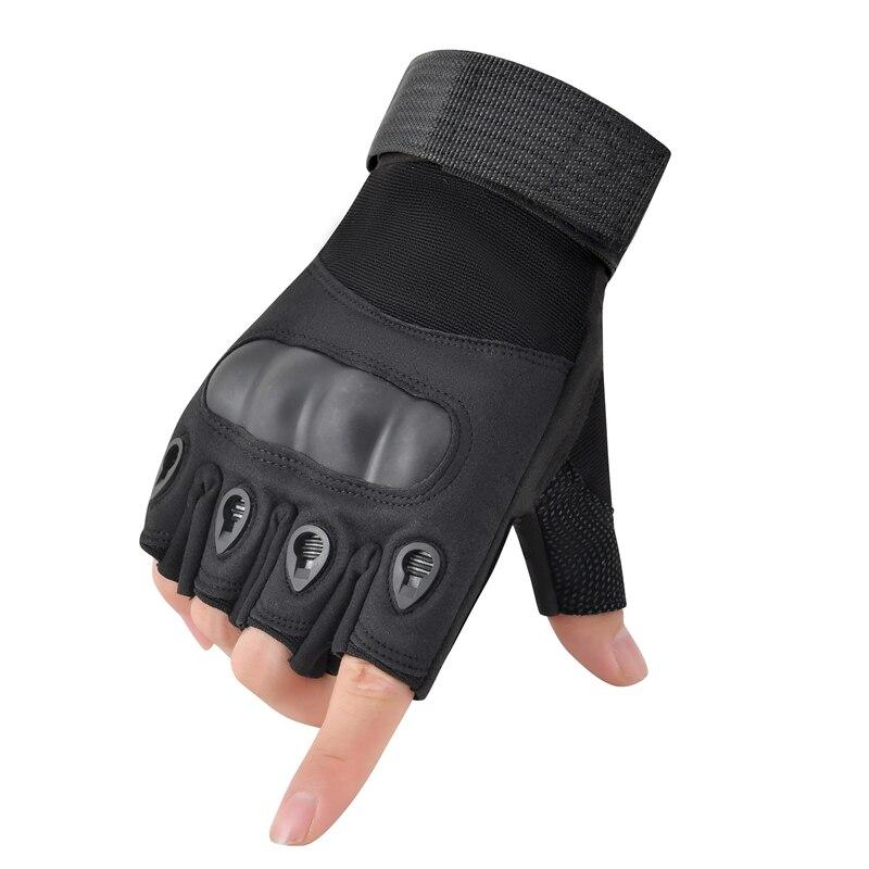 Перчатки мужские тактические без пальцев, военные армейские полуперчатки с твердыми костяшками для пейнтбола, страйкбола, езды на велосипе...