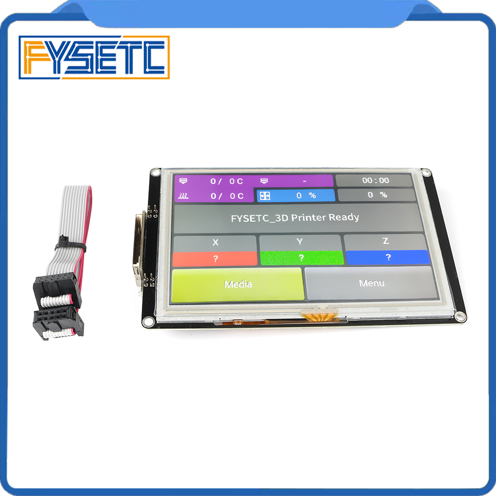 Controlador inteligente TFT81050 V1.0 pantalla táctil de 5 pulgadas Compatible con Marlin 2,0 Compatible con Luzbot CLCD S6 piezas de impresora 3D