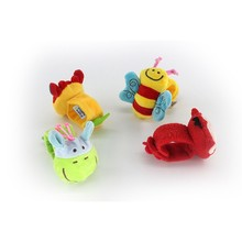 Children's Animal Rattle Educational Toys Children Plush Baby Stroller Animal Rattle Toy Wrist Rattle Newborn Rattle Toy 1 Piece(China)