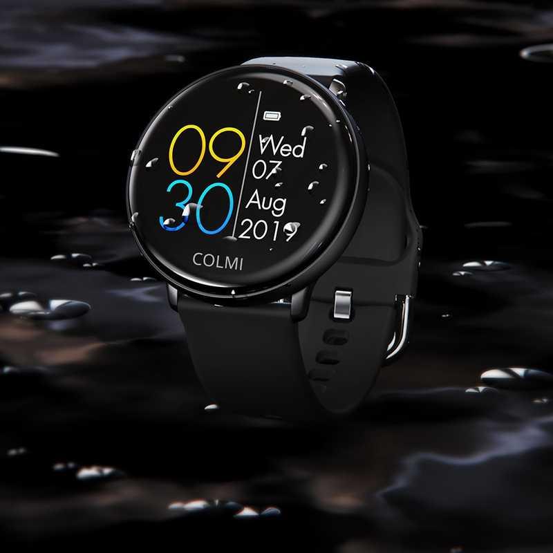 AMS-COLMI שמיים 2 חכם שעון IP68 Waterproof קצב לב צג Bluetooth ספורט כושר Tracker גברים Smartwatch עבור IOS אנדרואיד Bl