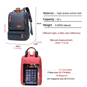 Image 4 - Casual Business Men Computer Backpack Light 15 inch Laptop Bag 2020 Waterproof Oxford cloth Lady Anti theft Travel Backpack Gray