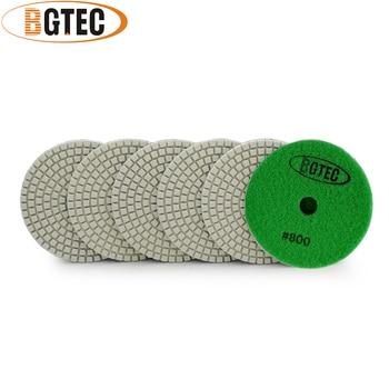 цена на BGTEC 4inch 6pcs #800 wet diamond flexible polishing pads for granite, marble, ceramic grinding disc
