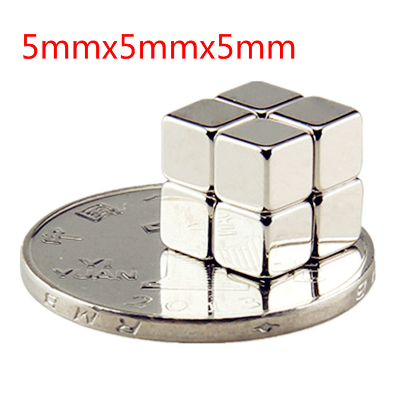 10/20/50pcs Powerful N35 Neodymium Magnets Block 5*5*5mm Super Strong Cuboid Cube Double Nickel Plated Rare Earth Magnets