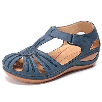 Kobiety sandały 2020 nowe letnie buty kobieta miękkie dno kliny buty dla kobiet sandały na platformie obcasy Gladiator Sandalias Mujer tanie i dobre opinie HAJINK CN (pochodzenie) Podstawowe Otwarta RUBBER Med (3 cm-5 cm) 0-3 cm Na co dzień Hook loop Pasuje prawda na wymiar weź swój normalny rozmiar