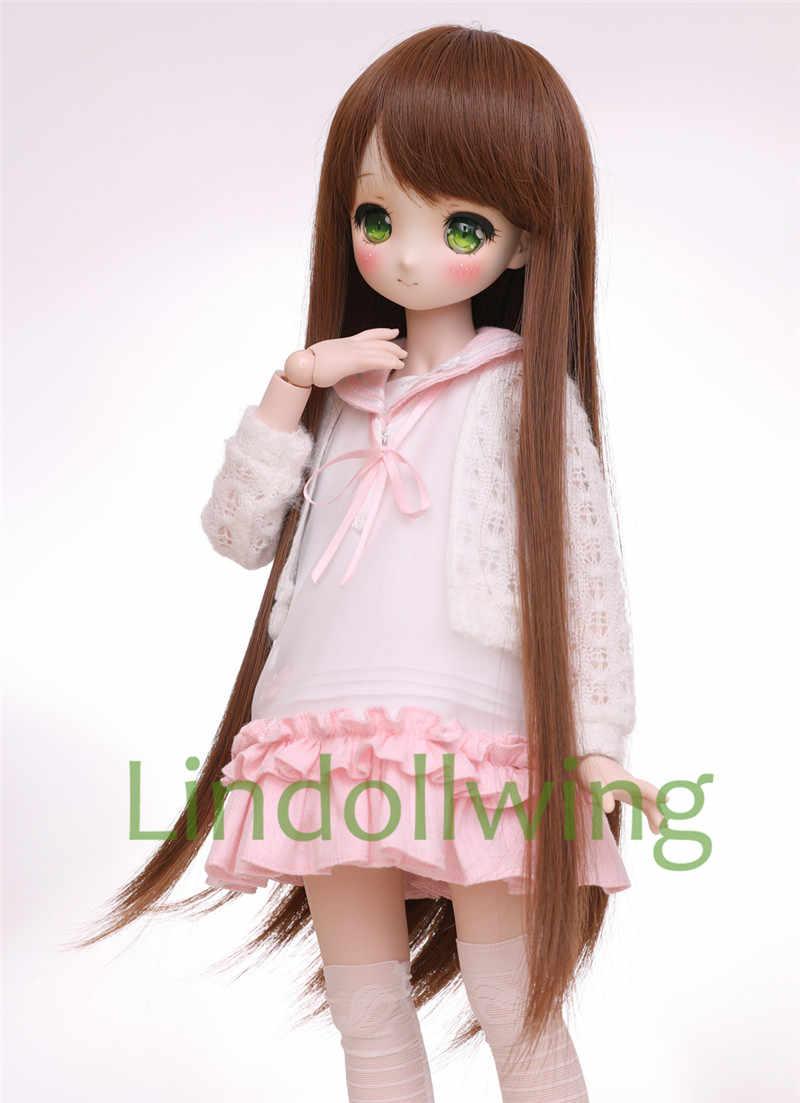 1/3 BJD perruque Pullip Dal DD SD LUT Dollfie poupée perruque haute température cheveux 8-9 pouces longue perruque cheveux bruns