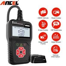 Ancel-herramienta de diagnóstico de coche AS100, lector de código multilingüe OBD 2, escáner automotriz OBD2, PK ELM327 para Citroen, Renault y BMW