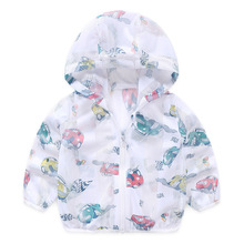 Fashion Baby Girls Coats 2019 Spring Autumn Jacket Hooded Graffiti Printing Outerwear&Coats Childrens