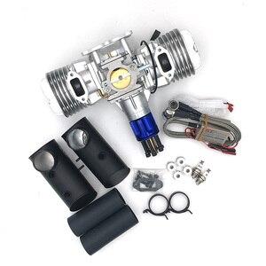 Image 2 - DLE130 RC 모델 가솔린 엔진 두 실린더 130CC 변위 이중 실린더 두 스트로크 공기 냉각 손 시작