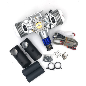 Image 2 - DLE130 RC Model Gasoline Engine Two Cylinder 130CC Displacement Dual Cylinder Two Strokes Air Cooling Hand Start