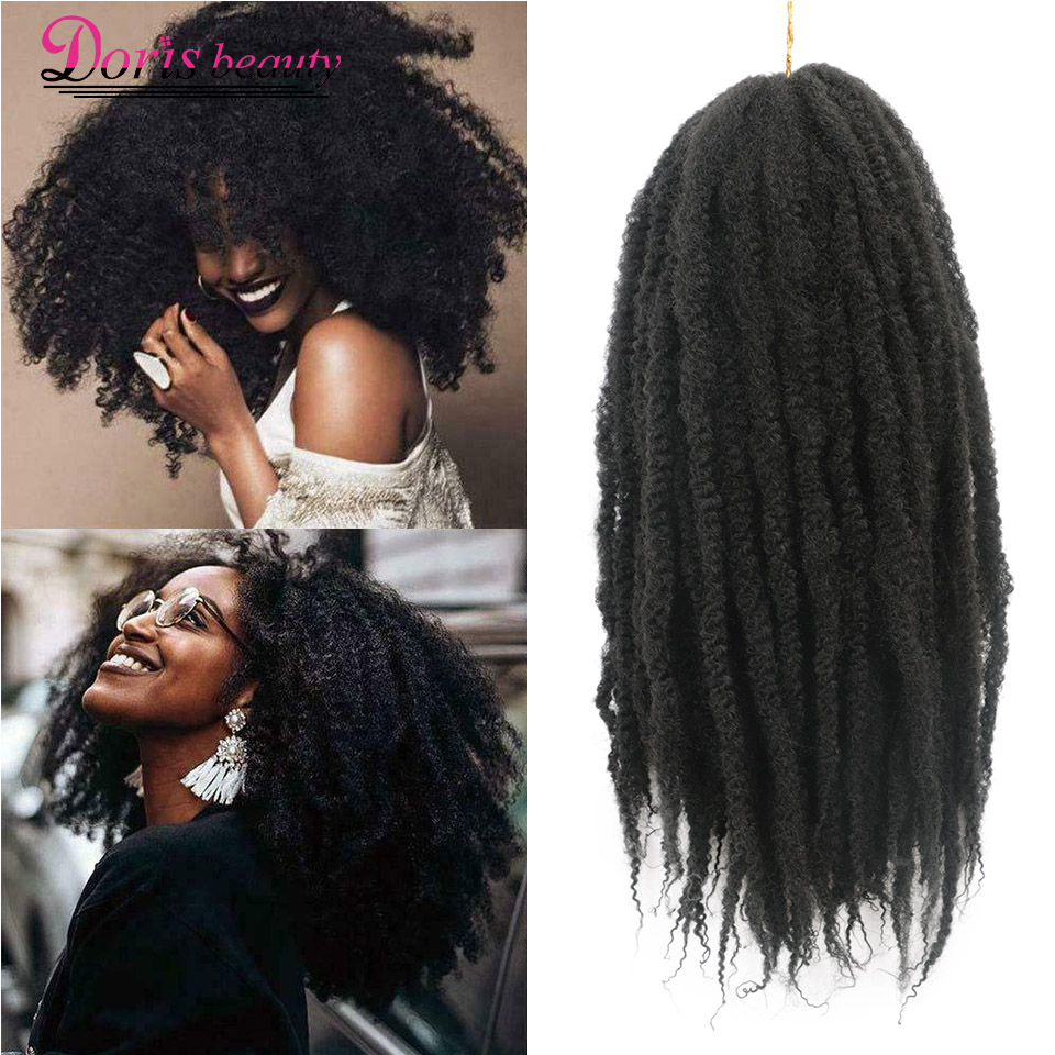 18 Inch Synthetic Crochet Braids Hair Marley Braid Ombre Braiding Hair Extensions Soft Afro Kinky Natural For Braids