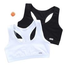 Girl Bra Crop-Top Kids Underwear Vest Letter Puberty-Sport Teen for Racerback Training