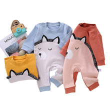 Newborn Jumpsuit Infant Baby Boy Girl Cartoon Animal Cotton Romper Clothes Spring and Fall Bodysuits