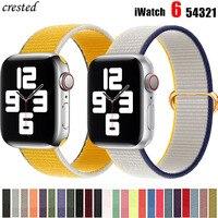 Nylon Schleife Strap für apple watch band 44mm 40mm 38mm 42mm 44mm iwatch armband correa armband für apple watch 6 5 4 3 se band