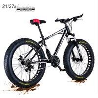 جديد X الجبهة العلامة التجارية 4.0 الدهون واسعة الإطارات 26 بوصة 21/27 سرعة الكربون الصلب دراجة هوائية جبلية الشاطئ الإنحدار دراجة الثلج bicicleta الدراجات    -