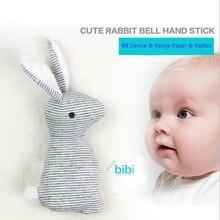 21 см Кролик Детские игрушки Плюшевые BB погремушка КРОЛИК Младенческая кольцо колокольчик Колыбель звук милые животные Bebe игрушка новорожденная кукла для 0-12 месяцев