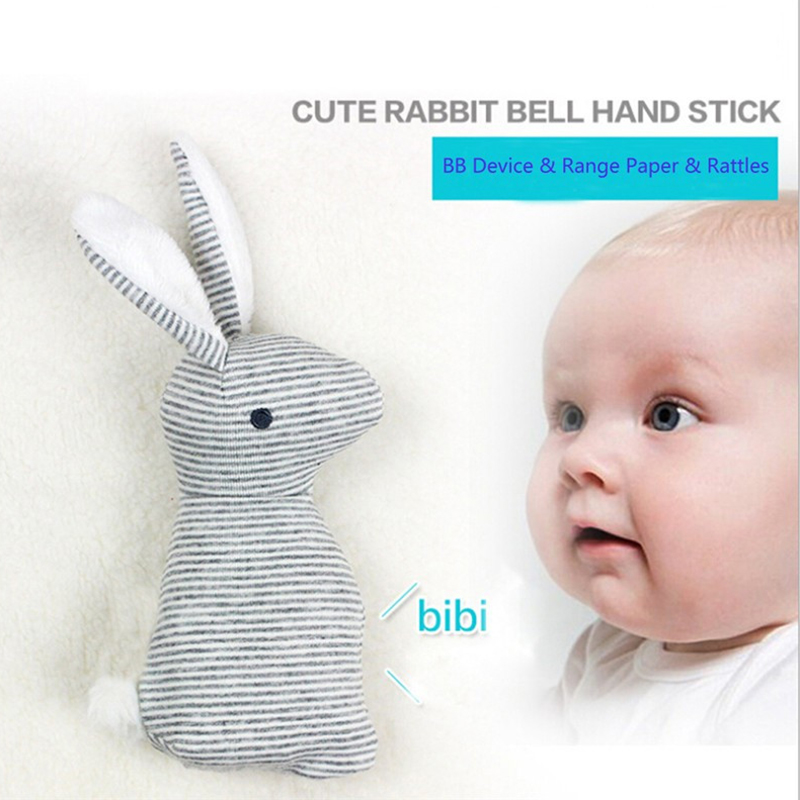21cm Rabbit Baby Toys Plush BB Bunny Rattle Newborn Infant Ring Bell Crib Sound Cute Animal Bebe Toy Kids Doll For 0-12 Months