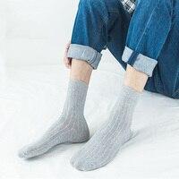 2019 Men Cotton Socks Brand New Casual Vertical Strip Business Man Socks Anti-Bacterial Deodorant Breatheable Man Crew Sock