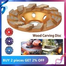 Алмазный шлифовальный диск резьба по дереву дисковый шлифовка в форме чаши чашки бетона Гранит камень Керамика отрезной диск Мощность инст...
