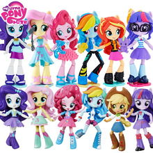 цена на My Little Pony PVC Joints Move Model Dolls Friendship and Magic Rainbow Anime Figure Toys for Children Bonecas Reborn Baby Doll