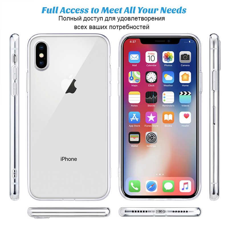 واضح الهاتف حقيبة لهاتف أي فون 7 قضية فون XR سيليكون لينة الغطاء الخلفي للآيفون 11 برو XS ماكس X 8 7 6 6s زائد 5 5s SE