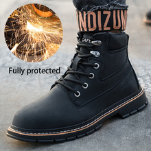 Footwear Safety-Shoes Toe-Boots Anti-Piercing Steel Winter Mens Protection
