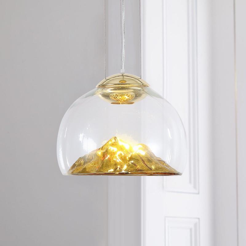 Modern Industrial Lamp Hanging Lamp Glass Ball Home Decoration E27 Light Fixture LED  Pendant Lights  Restaurant  Pendant Lights