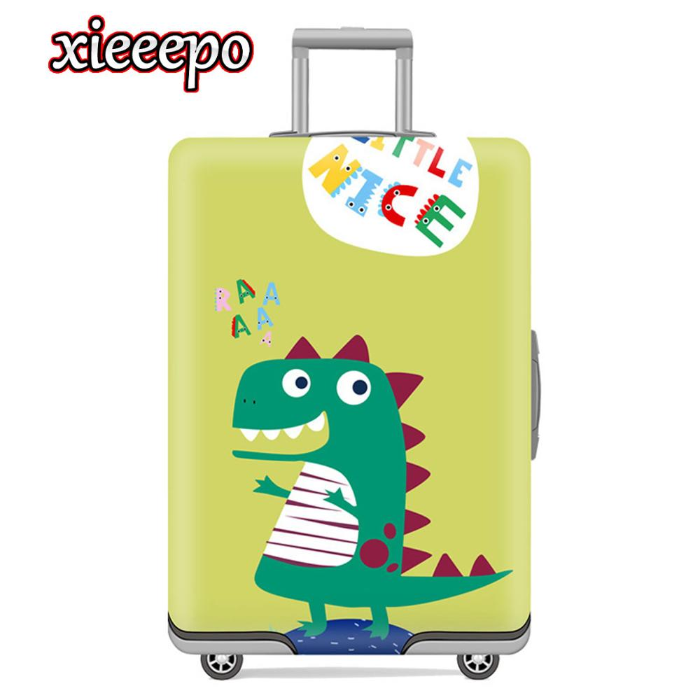 Cartoon 3D Dinosaur Thicken Luggage Protective Cover Suitcase Case Waterproof Elastic Apply 18-32 Inch XL Travel Accessorie
