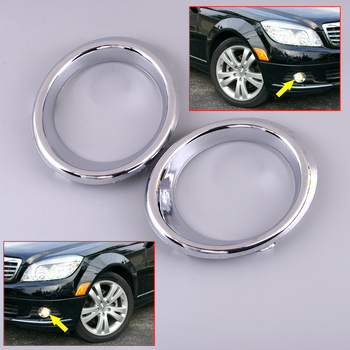 ABS 1Pair Front Bumper Fog Light Cover Fit For Mercedes Benz C Class W204 C300 C350 2008 2009 2010 2011 2048850574 2048850674 image