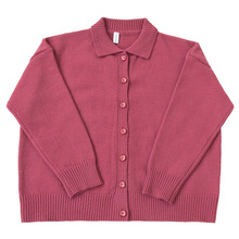 Special flower button three-color sweater cardigan loose casual knitted jacket girl 2020 new early spring women sweater