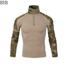 US Army Tactical Military Uniform  Combat-Proven Shirts Rapid Assault Long Sleeve Shirt Battle Strike Camo Uniform  Navy Seal