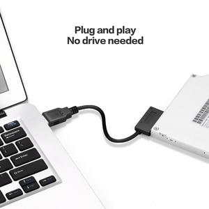 Image 2 - 0.35m SATA USB 2.0 כדי 6 7P כבל ממיר חיצוני כונן אופטי מתאם מחשב נייד תקליטור DVD מחשב קו העברת כונן אופטי נייד