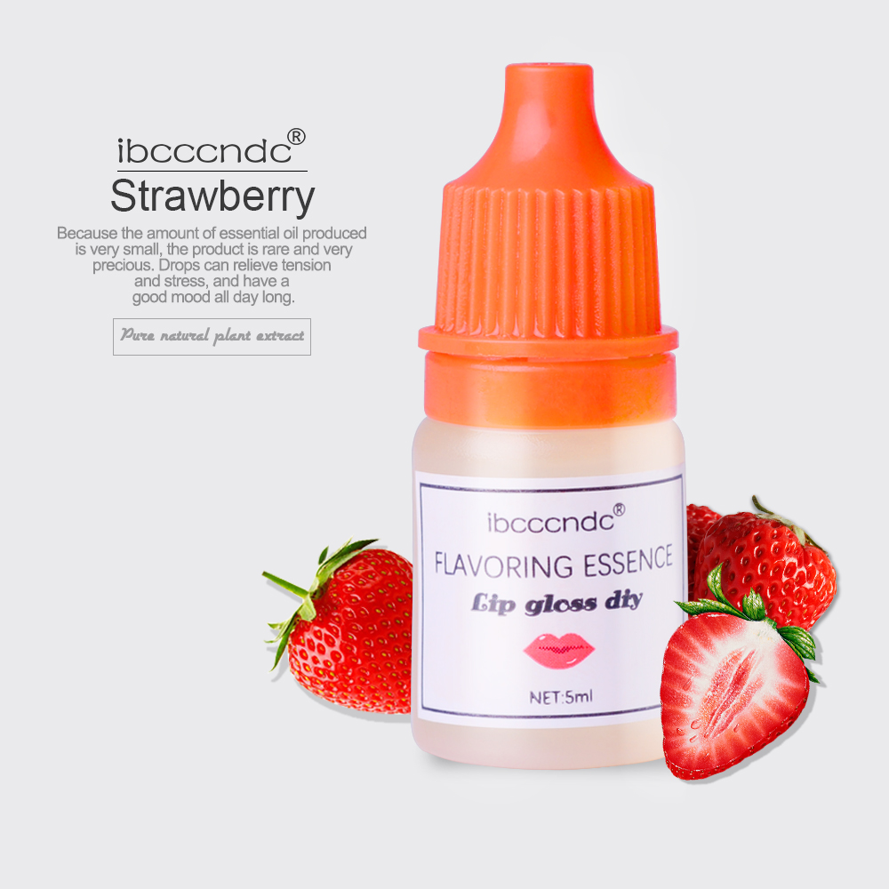 5ml Natural Flavor Essence For Handmade Cosmetic Lip Gloss Lipgloss DIY Food Grade Fragrance Flavoring Strawberry Essential