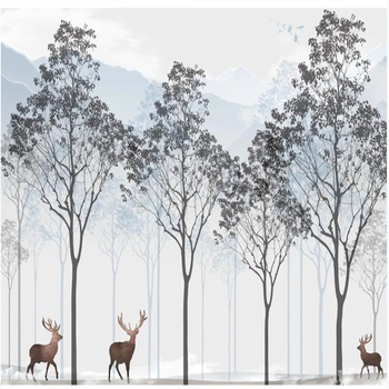 3d murals wallpaper for living room New style forest wallpapers landscape background wall фото