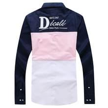 Eden homme chemise park frança estilo camisa masculina clássico casual inteligente algodão confortável qualidade superior tamanho grande m a 3xl